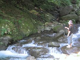 日向渓谷マス釣り場