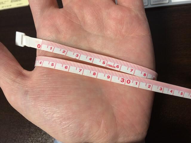 手のひらのサイズの測り方
