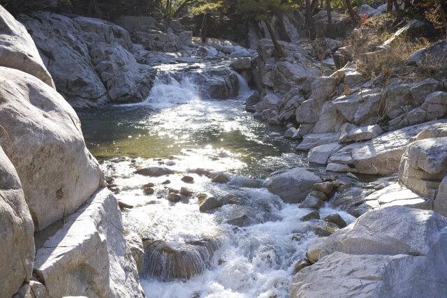 幅の狭い川