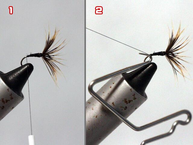 テンカラ釣りに使う逆さ毛鉤の完成